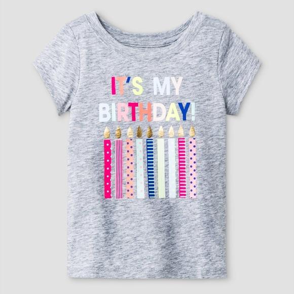 7a2c76d0b2d Cat & Jack Shirts & Tops | New Cat Jack Girls Its My Birthday Tshirt ...